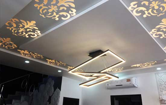 Gypsum False Ceiling For A 4bhk Villa In Rajankunte Bangalore
